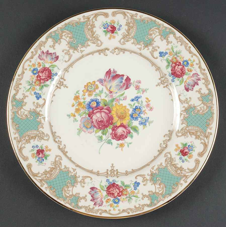 Old Ivory -- Green Romance dinner plate 10 inches.jpg