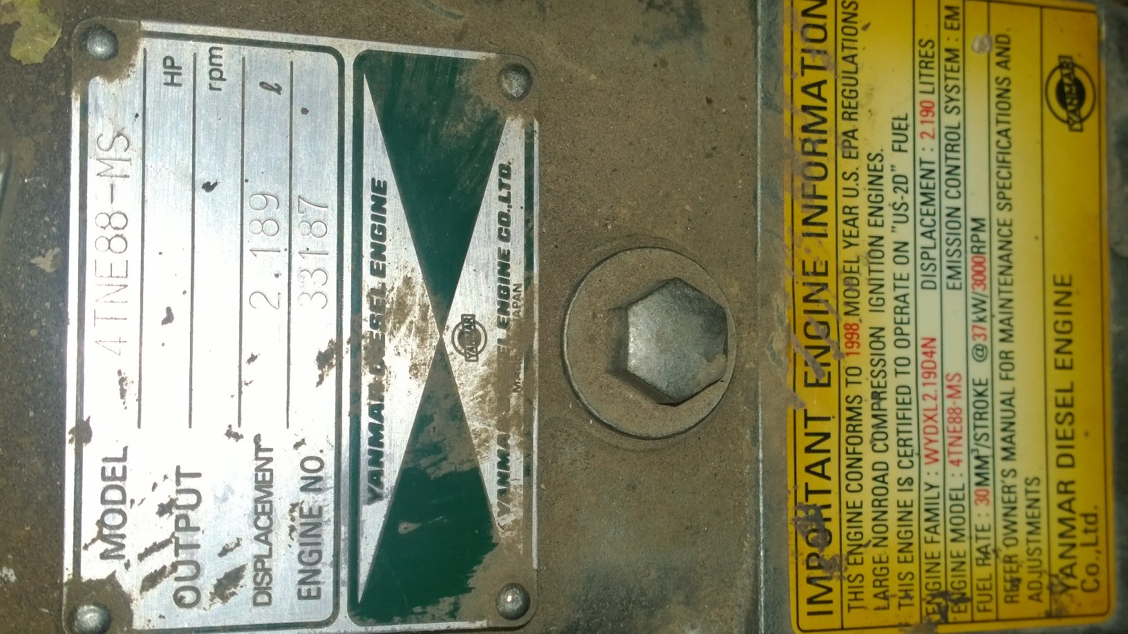 Mustang(model 2050, ~ yr 2005,1700 hrs) skid steer engine quits at idle(or  advanced throttle). it only continues running