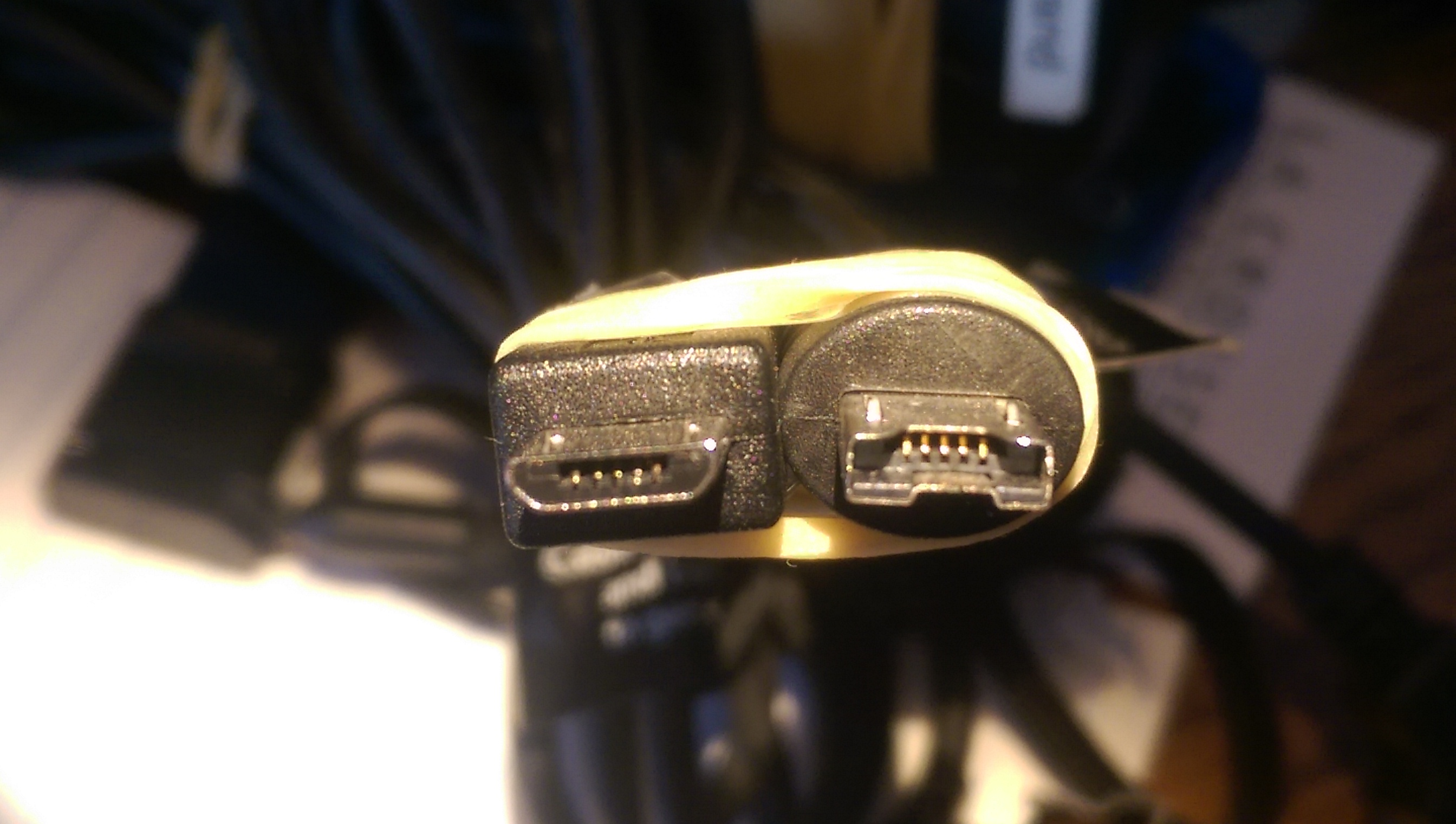 two plugs for identification