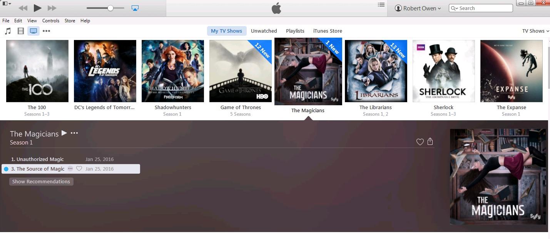 iTunes The Magicians folder.jpg